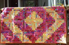 Kaffe Fassett fabric log cabin quilt | Flickr - Photo Sharing!