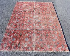 Turkish rug Oushak rug Vintage rug Turkey rug by turkishrugstar Black Rug, Vintage Rugs, Bohemian Rug, Etsy Seller, Turkey, Home Decor, Decoration Home, Black Carpet, Turkey Country