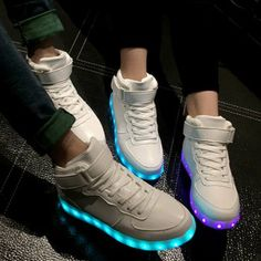 Trendy Lights Up Led Luminous and Tie Up Design Athletic Shoes For Women 89dacc99b