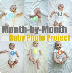How to create a monthy photo project of your tiny human! :)