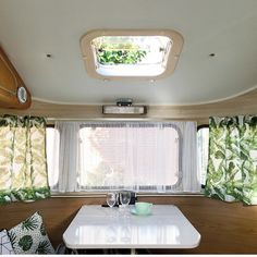 Camper Caravan, Airstream, Camping, Curtains, Retro, Prints, Inspiration, Ideas, Home Decor