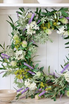 French Market Floral Wreath with Balsam Hill - French Country Cottage French Country Cottage, French Country Decorating, Country Living, Wreaths And Garlands, Floral Wreaths, Balsam Hill, Rose Arrangements, Flower Arrangement, Christmas Greenery