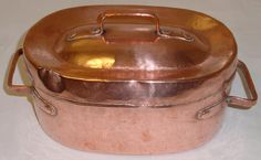 Beautiful antique French full copper OVAL DAUBIERE 1880 hammered/dovetailed | Antiques, Decorative Arts, Metalware | eBay!