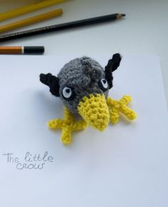 Little crow free amigurumi pattern on Craftsy by #tinyAlchemy