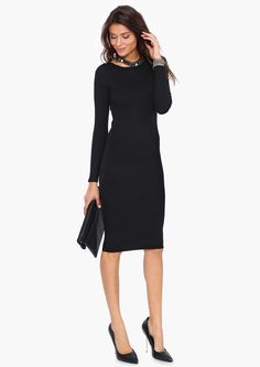 Chic + classic sweater dress — perfect for fall!
