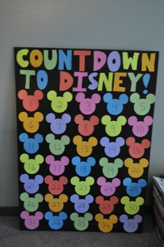 Disney Count Down - Try this if we ever plan a trip to Disney