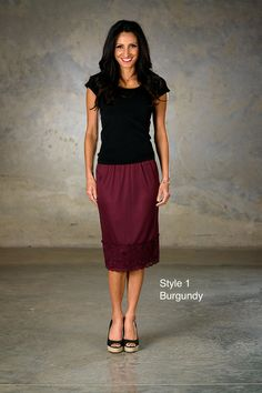 Classic Beauty Skirt Extenders burgundy