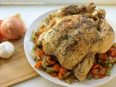 Slow Cooker Chicken and Vegetables - Gluten free and so easy! at Gluten-Free Homemaker