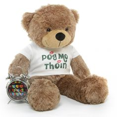 """Special St. Patrick's Day Personalized T-Shirt on super cute 26"""" Teddy Bear $44.99 http://www.giantteddy.com"""