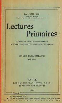 Toutey, Lectures primaires CE
