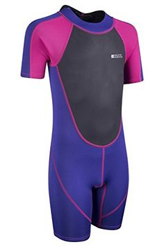 Mountain Warehouse Junior Shorty Swim Diving Swimming Beach Water Wetsuit Neoprene Wet Suit Orange 7-8 years: Amazon.co.uk: Sports & Outdoors