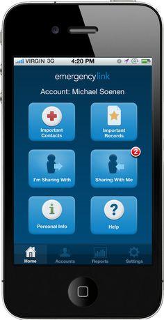 EmergencyLink Mobile App - http://itunes.apple.com/us/app/emergencylink/id514464433?mt=8 #mobileapp #webdevelopment #emergencylink