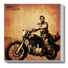 #GABAMBO. Jab Tak Hai Jaan, Shahrukh Stretched Canvas Art.  #Bollywood #Canvasart #SRK .  Available at www.gabambo.com