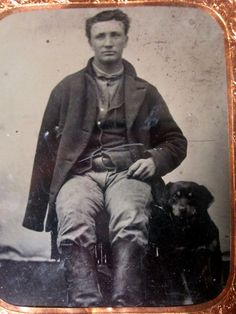 Heartwrenching Tintype Amputee Civil War Soldier & His Faithful Little Dog | eBay
