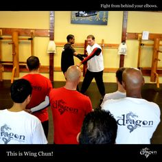 Fight from behind your elbows #wingchun #kungfu