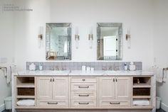 Beautiful Bathroom Jack and Jill Sinks in Urban Farmhouse Rustic style by Dana Benson Construction