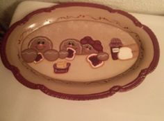 Handpainted Bread & Jam Gingerbread Tray