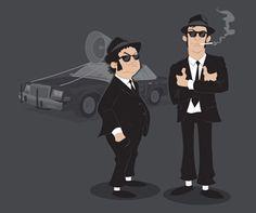 Blues Brothers Jake & Elwood t-shirt