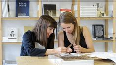 Emma and Kirsty take a closer look at the tiny marquetry sample...