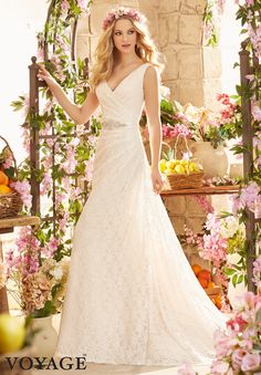 #Wedding #Gowns / #Dresses #Style 6806: Poetic #Lace http://www.morilee.com/bridals/voyage/6806