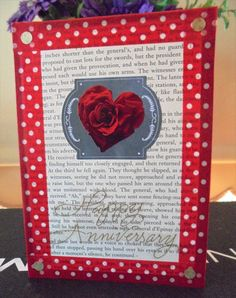 Shop for valentines on Etsy, the place to express your creativity through the buying and selling of handmade and vintage goods. Anniversary Cards, Red Roses, Heart, Awesome, Unique Jewelry, Handmade Gifts, Frame, Etsy, Bday Cards