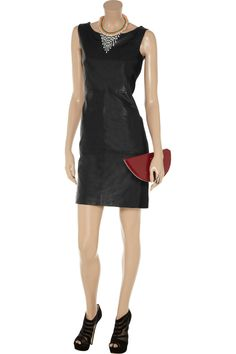Olympia leather dress by Sara Berman