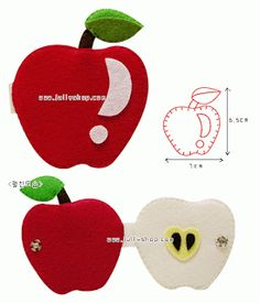 Apple, inside and out Crafts Cia: felt or EVA