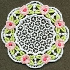 FSL Delicate Rose Coaster 6 - 4x4 | What's New | Machine Embroidery Designs | SWAKembroidery.com Ace Points Embroidery