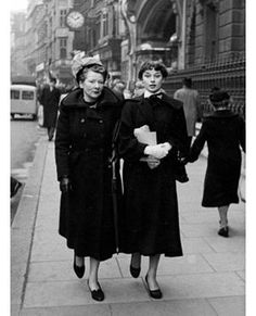 Ella and Audrey in London, circa 1949