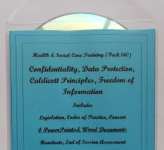 Teaching Resources CD Health and Social Care CONFIDENTIALITY QCF Level 2 3 - This pack contains PowerPoint presentations, hand-outs, a learning activity and one end of session assessment (these are Word documents printable from the CD). There are also some extra hand-outs that I have included as a courtesy (Word documents printable from the CD). Pack looks at Confidentiality, Caldicott Principles, Data Protection Act, Freedom of Information Acts.