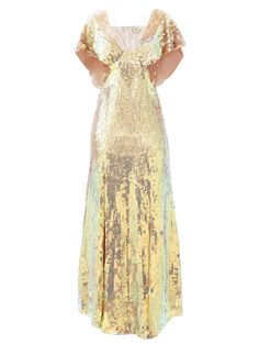 Bardot sequinned dress | Temperley London | MATCHESFASHION UK Gold Sequin Dress, Temperley, Red Carpet Dresses, I Love Fashion, Classy Outfits, Special Occasion Dresses, Chiffon, Gowns, Fashion Outfits