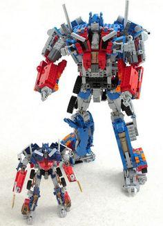 Giant LEGO Optimus Prime Actually Transforms