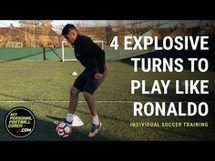 Individual Soccer Training - 4 explosive turns to play like Ronaldo - YouTube