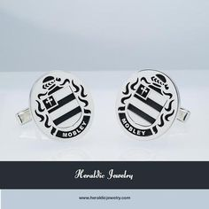Mobley family crest cufflinks
