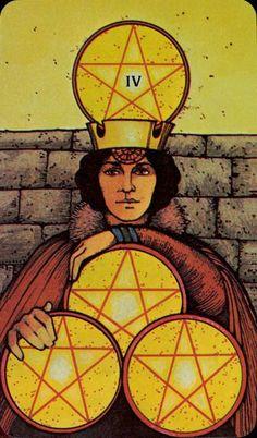 Four of  Pentacles - Morgan-Greer Tarot by Bill Greer, Lloyd Morgan