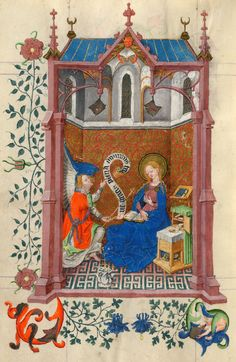 Annunciation | Hours of Catherine of Cleves | Illuminated Manuscript | ca. 1440 | The Morgan Library & Museum