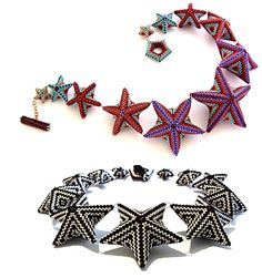 Amazing geometric stars beading pattern from Jean Power!