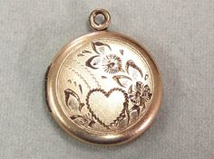 Vintage Gold Filled Locket Engraved with a Heart by COBAYLEY, $30.00