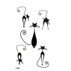 Black cat Temporary Tattoos men Waterproof Temporary Body Arts flash tattoo Pattern temporary tatoo tatuajes temporales henna #>=#>=#>=#>=#> Click on the pin to check out discount price, color, size, shipping, etc. Save and like it!