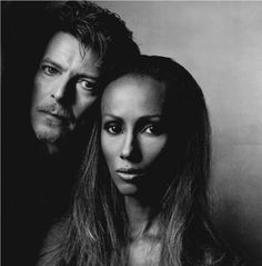Bowie and Iman by Irving Penn