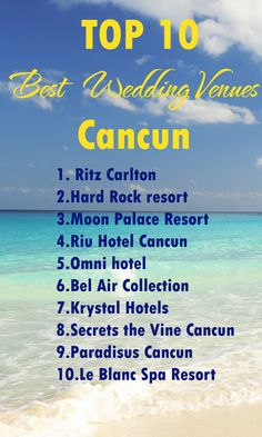 Cancun wedding venues. Find out the best wedding venue in Cancun. TOP 10 of the best ones!