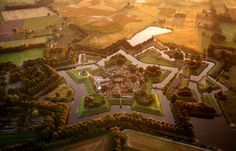 The star fort in Bourtange, the Netherlands. Image © Amos Chapple