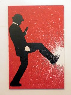 Stencil art on Canvas by Funky Red Dog. Originally posted by Cristine Kang.