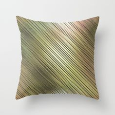 'Golden Stripes' throw pillow by LLL Creations.  This design is available in many different products.    #society6 #society6_products #LLLCreations #throwpillows