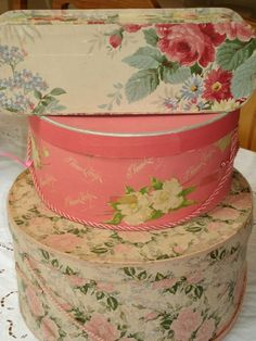 shabby roses chic old boxes....love....