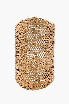 Aurelie Bidermann -  Gold Plated Lace Cuff