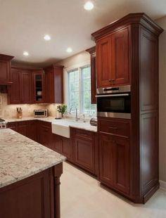 Best Traditional Dark Wood Cherry Kitchen Cabinets 48 Kitchen 640 x 480