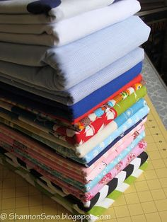 Keep everything nice and neat by using your quilt ruler to fold your fabric.