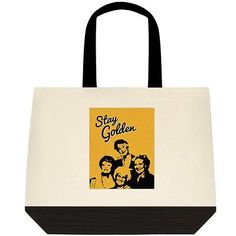 STAY GOLDEN The Golden Girls Canvas Tote Book Bag Shopper Purse