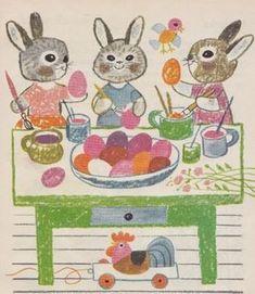 Húsvéti mesék About Easter, Easter Tree, Easter 2020, Bunny Art, Vintage Easter, Egg Hunt, Illustrations And Posters, Origami, Preschool